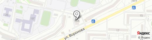 Навигатор на карте Красноярска