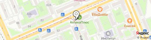 Русский Разгуляй на карте Красноярска