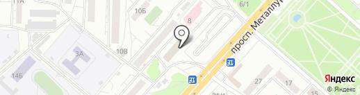 Кнопка на карте Красноярска