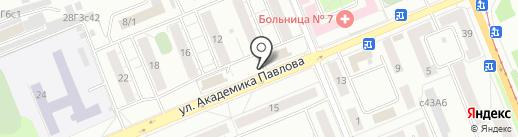 Красноярская сеть на карте Красноярска