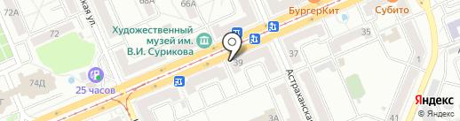 Клуб робототехники на карте Красноярска