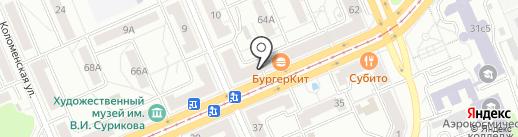 Магазин мужской одежды на карте Красноярска