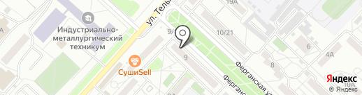 Секонд хенд & Сток на карте Красноярска