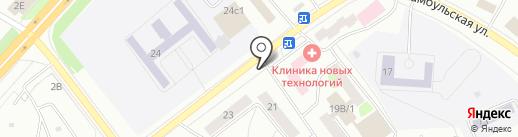 Магазин разливного пива на карте Красноярска