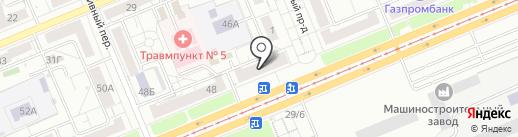 Амстердам на карте Красноярска