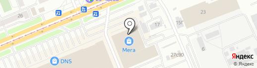 Мега Голд на карте Красноярска