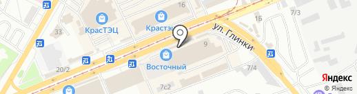 Магазин цветов на карте Красноярска