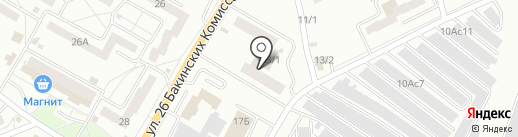 Спартак на карте Красноярска