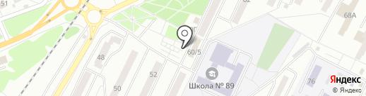 Рыбный магазин на карте Красноярска