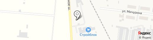 Стройблок на карте Березовки