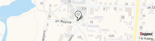 Уярский на карте Березовки