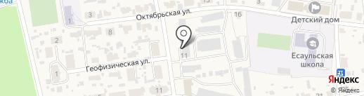 Продуктовый магазин на Геофизической на карте Есаулово