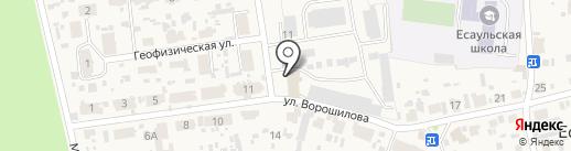 Сибирское производственно-геологическое объединение на карте Есаулово