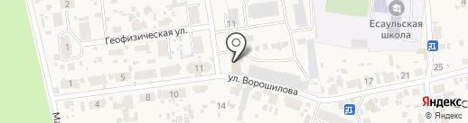 Красноярская геологоразведочная партия №1 на карте Есаулово