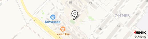 Салон-парикмахерская на карте Сосновоборска