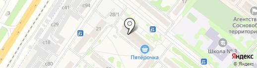Монро на карте Сосновоборска