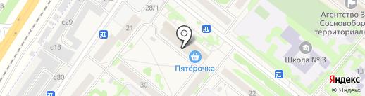 Банкомат, КБ Канский на карте Сосновоборска