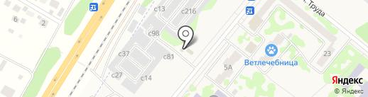 Магазин по продаже автомасел на карте Сосновоборска
