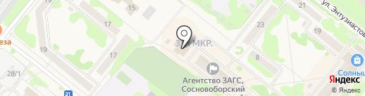 Лион на карте Сосновоборска