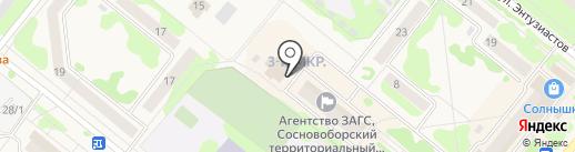 Сосновоборск.НЕД на карте Сосновоборска