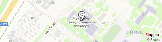 Сосновоборский механико-технологический техникум на карте Сосновоборска