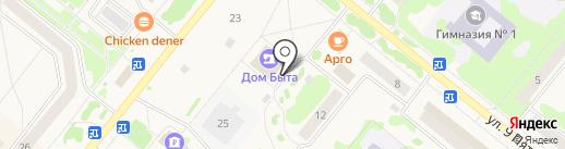 Новосел на карте Сосновоборска