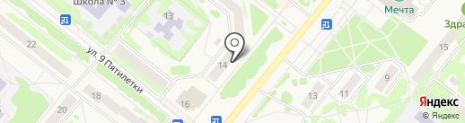 Авантаж на карте Сосновоборска