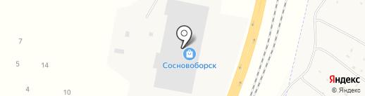 База строительных и отделочных материалов на карте Сосновоборска