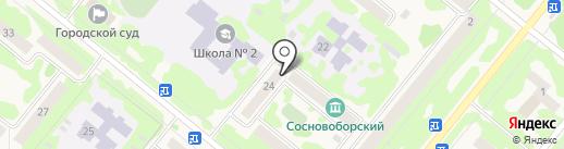Росинка на карте Сосновоборска