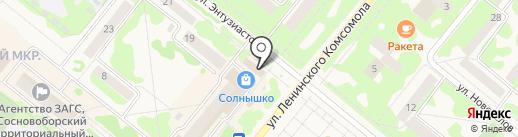 Кассервис на карте Сосновоборска