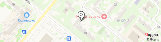 Губернские аптеки на карте Сосновоборска