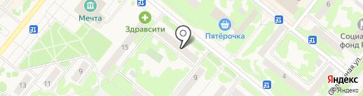 Сосновоборск на карте Сосновоборска