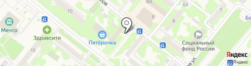 Почтовое отделение на карте Сосновоборска