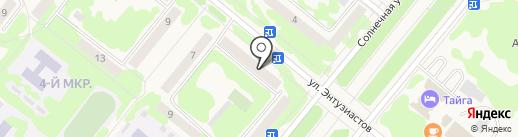 Магазин товаров для животных на карте Сосновоборска