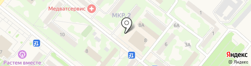 Киоск по продаже цветов на карте Сосновоборска
