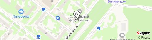Центр занятости населения г. Сосновоборска на карте Сосновоборска