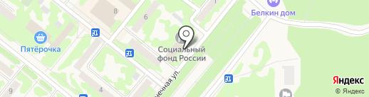 Прокуратура г. Сосновоборска на карте Сосновоборска