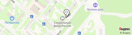 Военно-учетный стол Администрации г. Сосновоборска на карте Сосновоборска