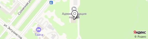 Администрация на карте Сосновоборска
