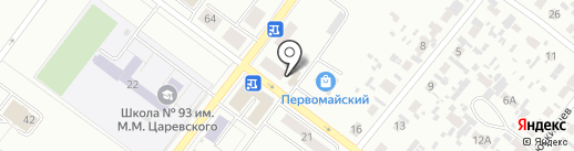 Таежный на карте Железногорска