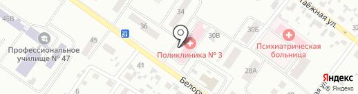 Поликлиника №3 на карте Железногорска