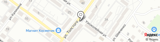 Вечерний на карте Железногорска