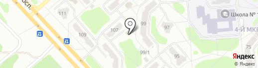 Русалочка на карте Железногорска
