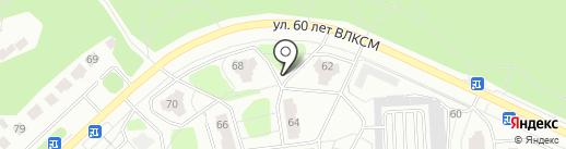 Чайка на карте Железногорска