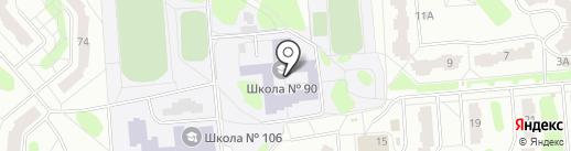 Средняя общеобразовательная школа №90 на карте Железногорска