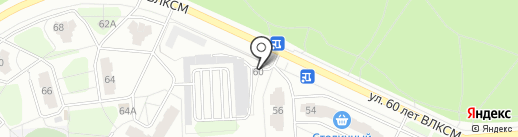 Шиномонтажная мастерская на ул. 60 лет ВЛКСМ на карте Железногорска
