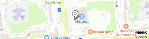 Кристалл на карте Железногорска