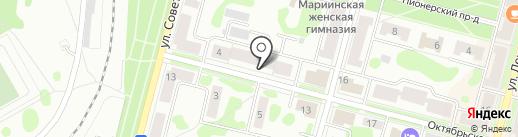 Серебряный шар на карте Железногорска