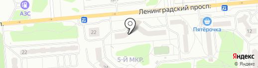 Проспект на карте Железногорска