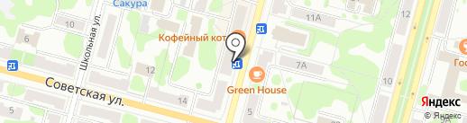 Сластена на карте Железногорска